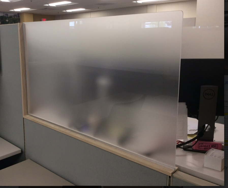 Custom Cubicle Partition - Frosted