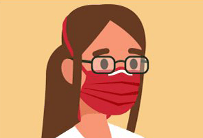 Wearing glasses with a mask